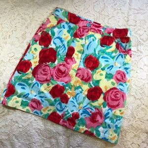 Talbots Floral Pattern Casual Skirt